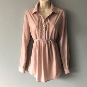 Gap Maternity Blouse Size XS Blush